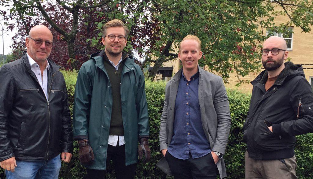 Börje, Robin, Joel och Rasmus som jobbar med Serviceprotokoll.se