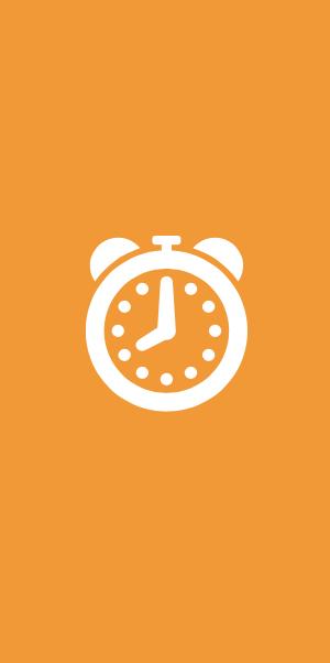 Symbol för serviceorder - en klocka